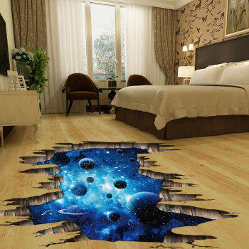 Planets 3D Broken Floor Sticker - BLUE 60*90CM