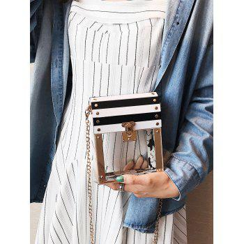 Chain Striped Pattern Crossbody Bag -