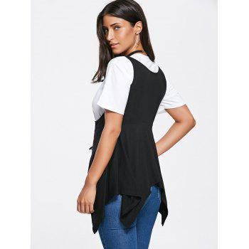 Asymmetrical Lace Up Corset Top - Noir M