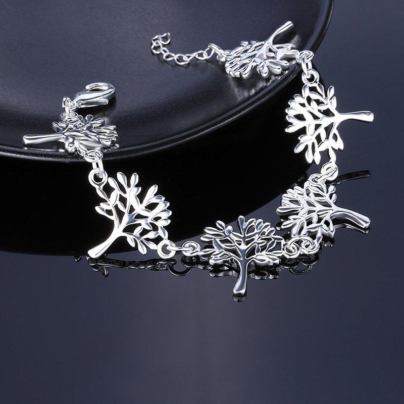 Metal Tree of Life Chain Bracelet - SILVER