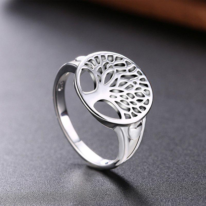 Alloy Round Tree of Life Ring