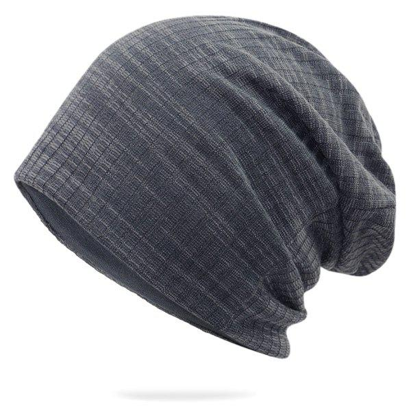 Pinstriped Cotton Yarn Blended Beanie недорого