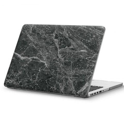Marble Printed Laptop Protective Case for MacBook - BLACK FOR MACBOOK PRO RETINA 13.3 INCH (A1502/A1425)