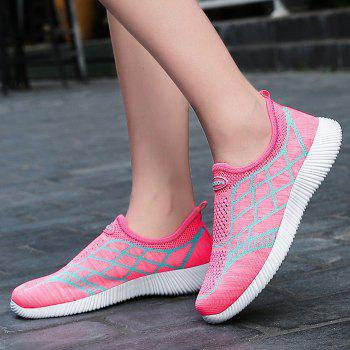 Geometric Pattern Color Block Breathable Athletic Shoes - 37 37