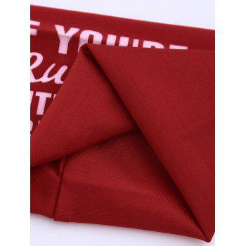 Letters Printed Running Headband - RED