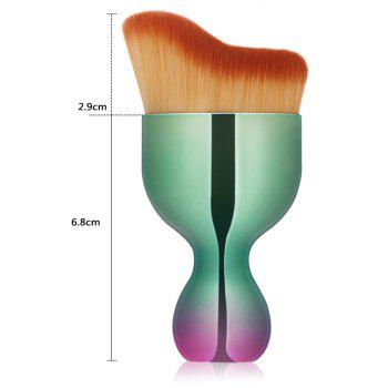 Oblate Wine Glass Design Foundation Brush -  GREEN