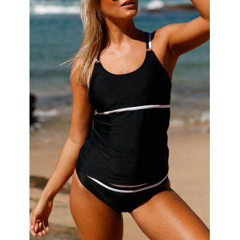 Cross Back Tankini Set - BLACK XL