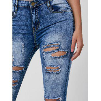 Skiny Ripped Acid Wash Jeans - [