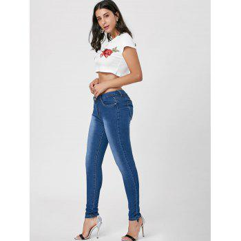 Jeans skinny à haute taille Dark Washed - Azuré 2XL