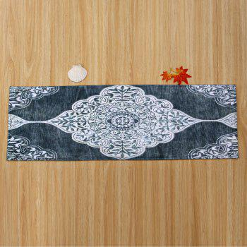 Home Decor Persian Totem Printed Antiskid Carpet - SMOKY GRAY W24 INCH * L71 INCH
