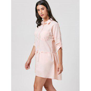 Patch Pocket Mini Shirt Dress - 2XL 2XL