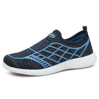 Geometric Pattern Color Block Breathable Athletic Shoes - DEEP BLUE DEEP BLUE