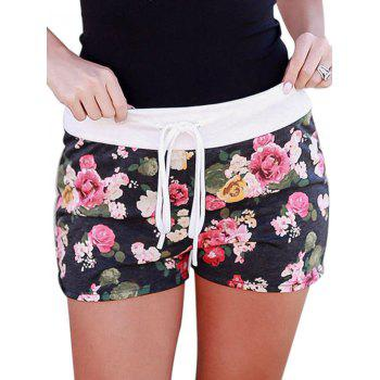 Printed Loungewear Shorts - BLACK BLACK