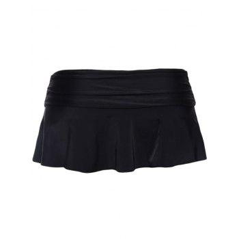 Skirted Swimming Bottom - BLACK BLACK