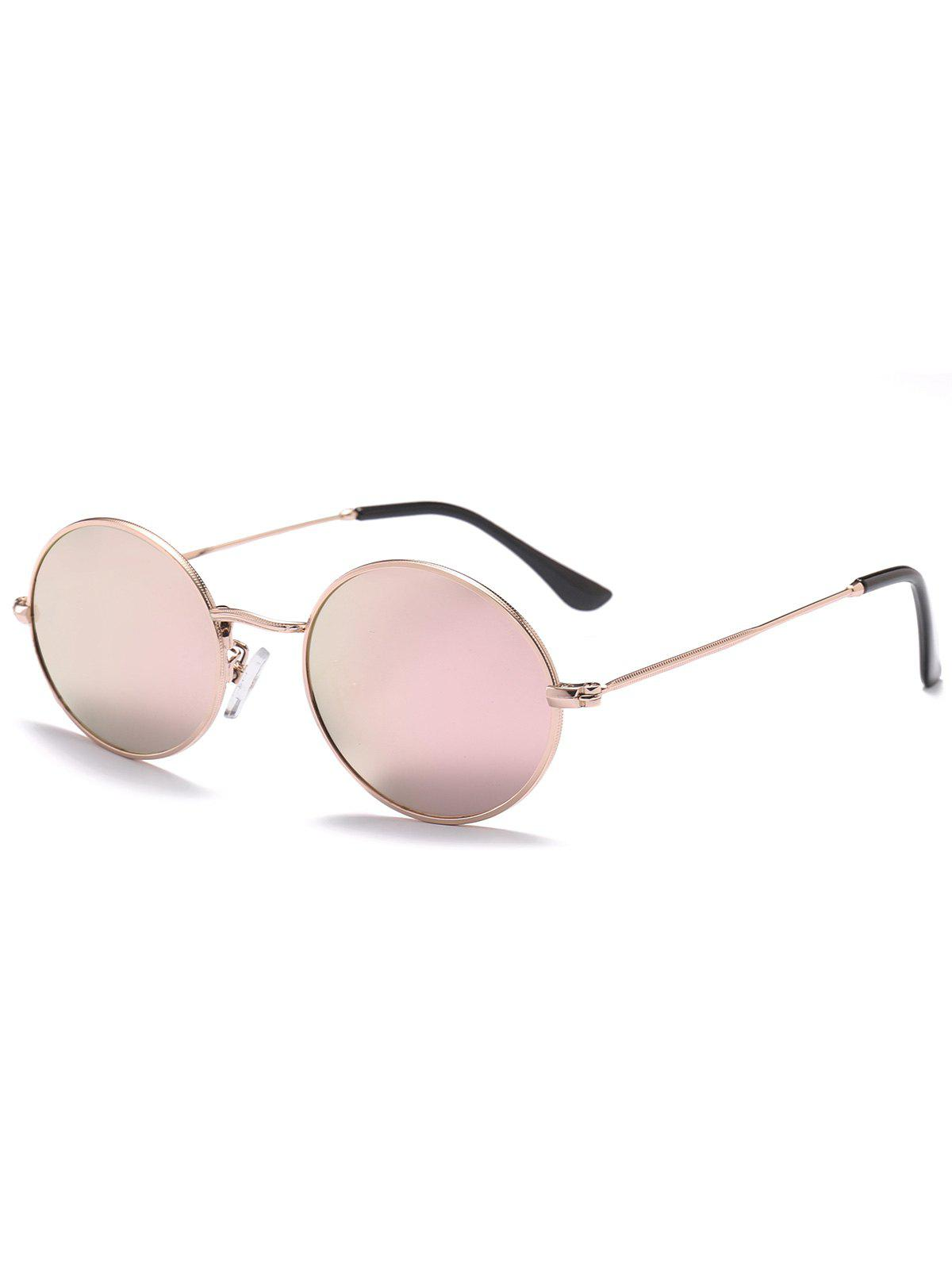 Oval Anti UV Sunglasses - DEEP PINK