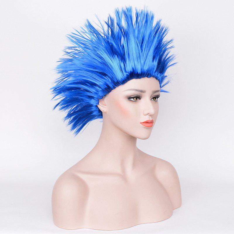 Halloween Short Fluffy Straight Thing One Thing Two Cosplay Party Wig - BLUE