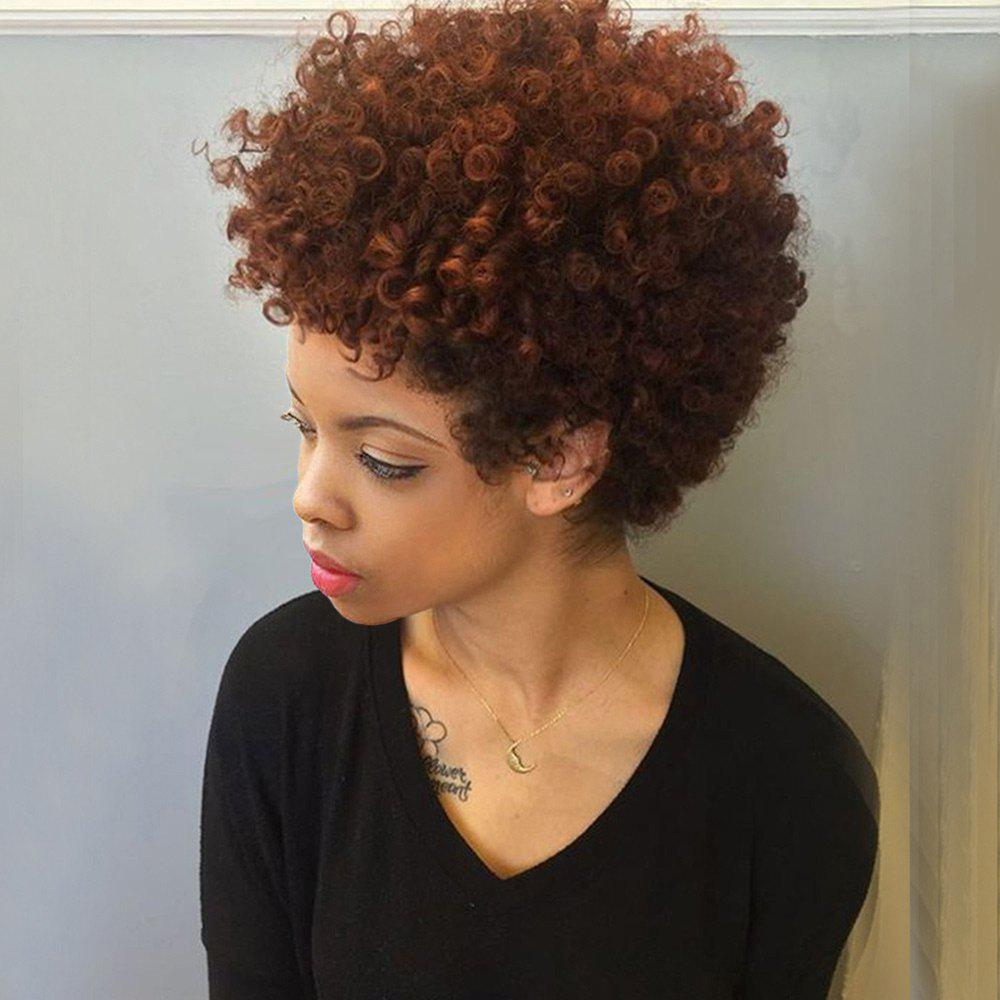 2018 Short Bouffant Two Tone Afro Curly Synthetic Wig