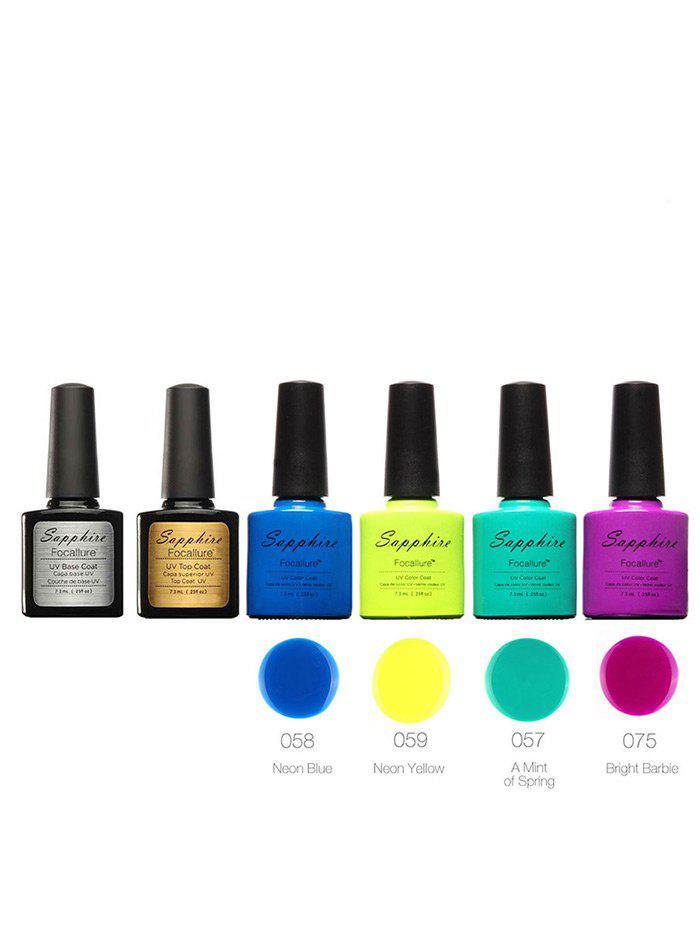 Sapphire 4 Colors Kit Soak Off UV Gel Polish Set - COLORMIX
