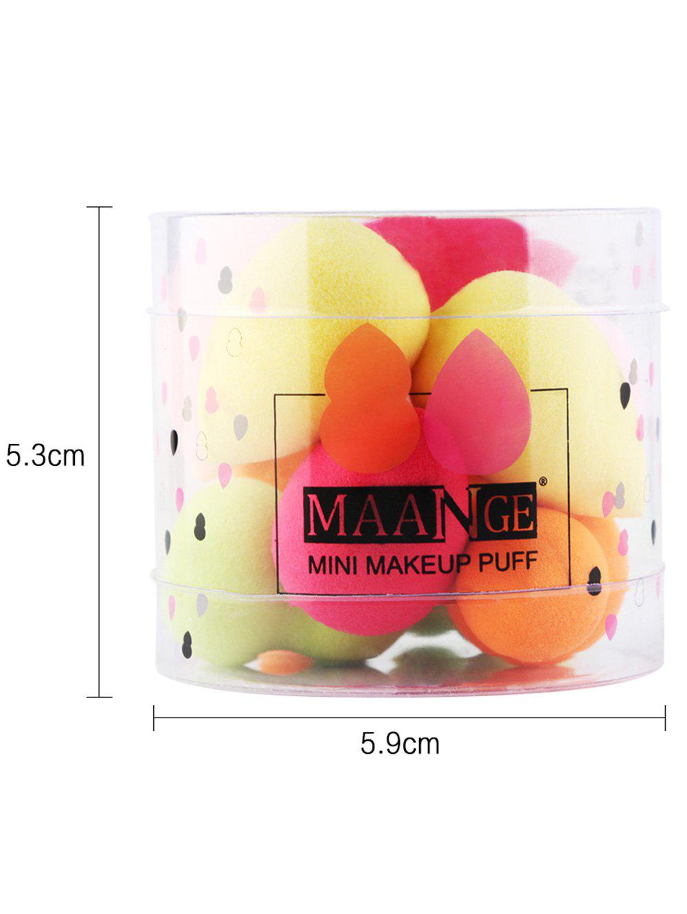 10Pcs Makeup Up Beauty Sponges with Box - COLORFUL