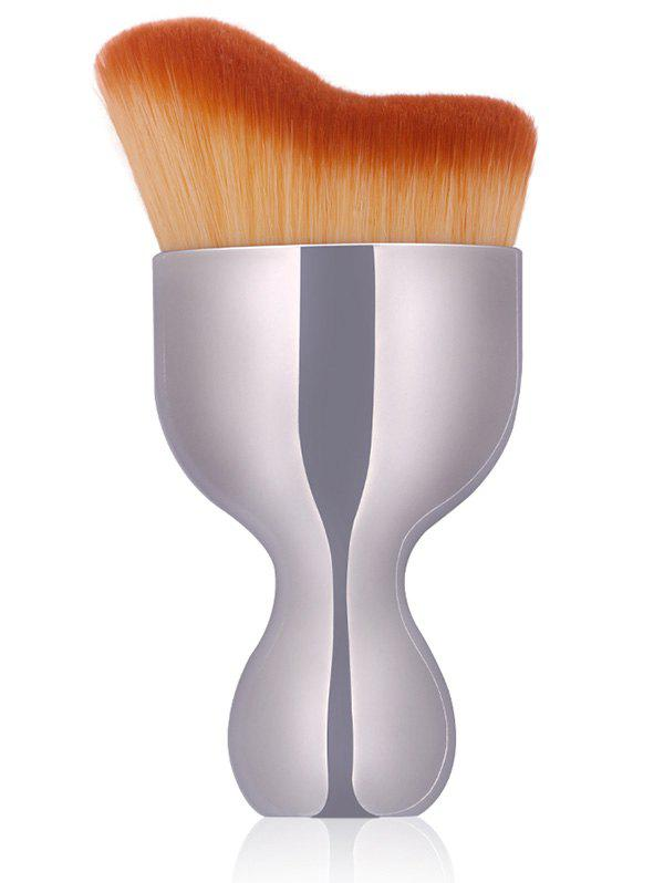 Oblate Wine Glass Design Foundation Brush - SILVER