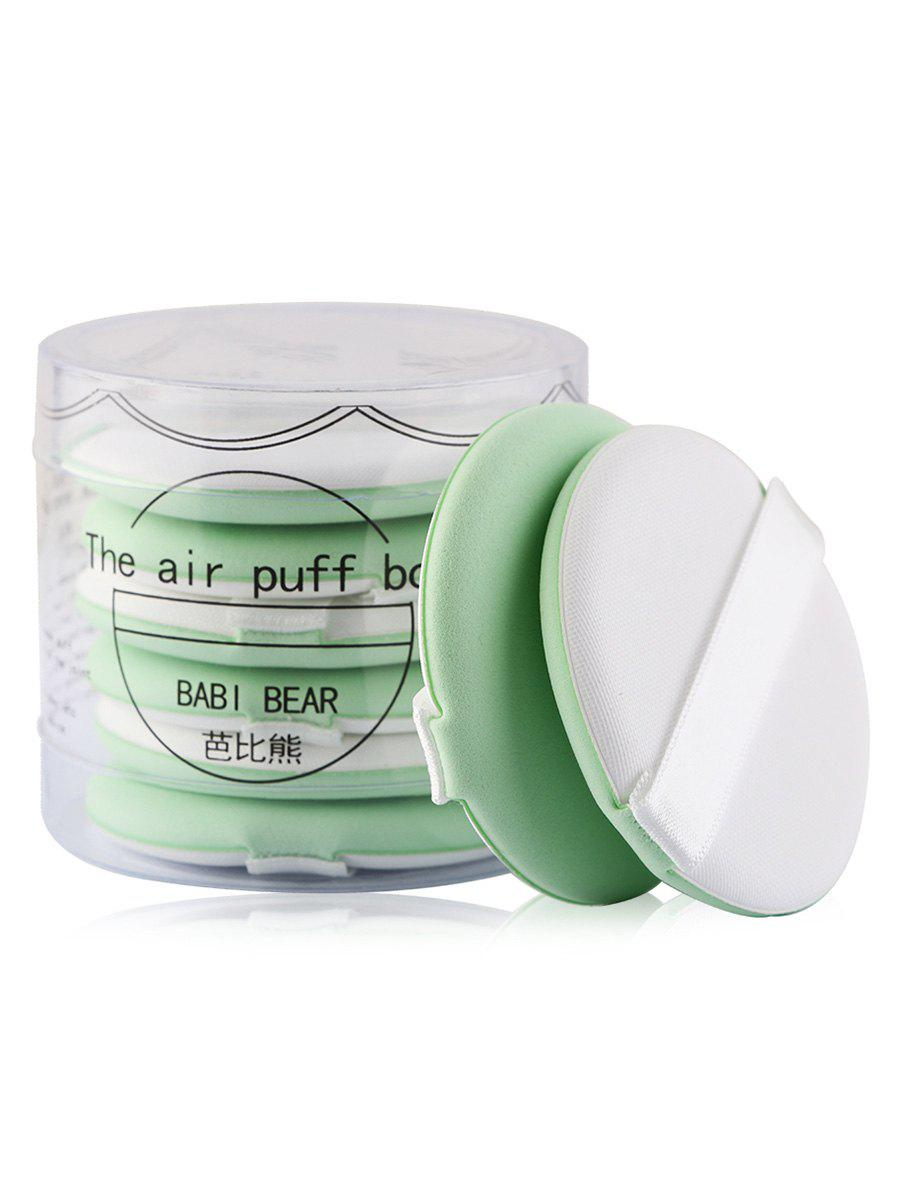 8Pcs Portable Multipurpose Powder Puff with Box - GREEN