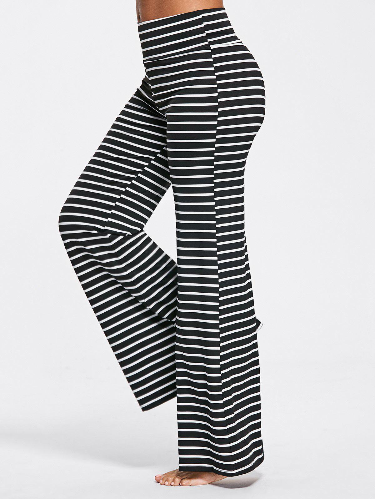 High Waisted Striped Bell Bottoms Pants цена и фото