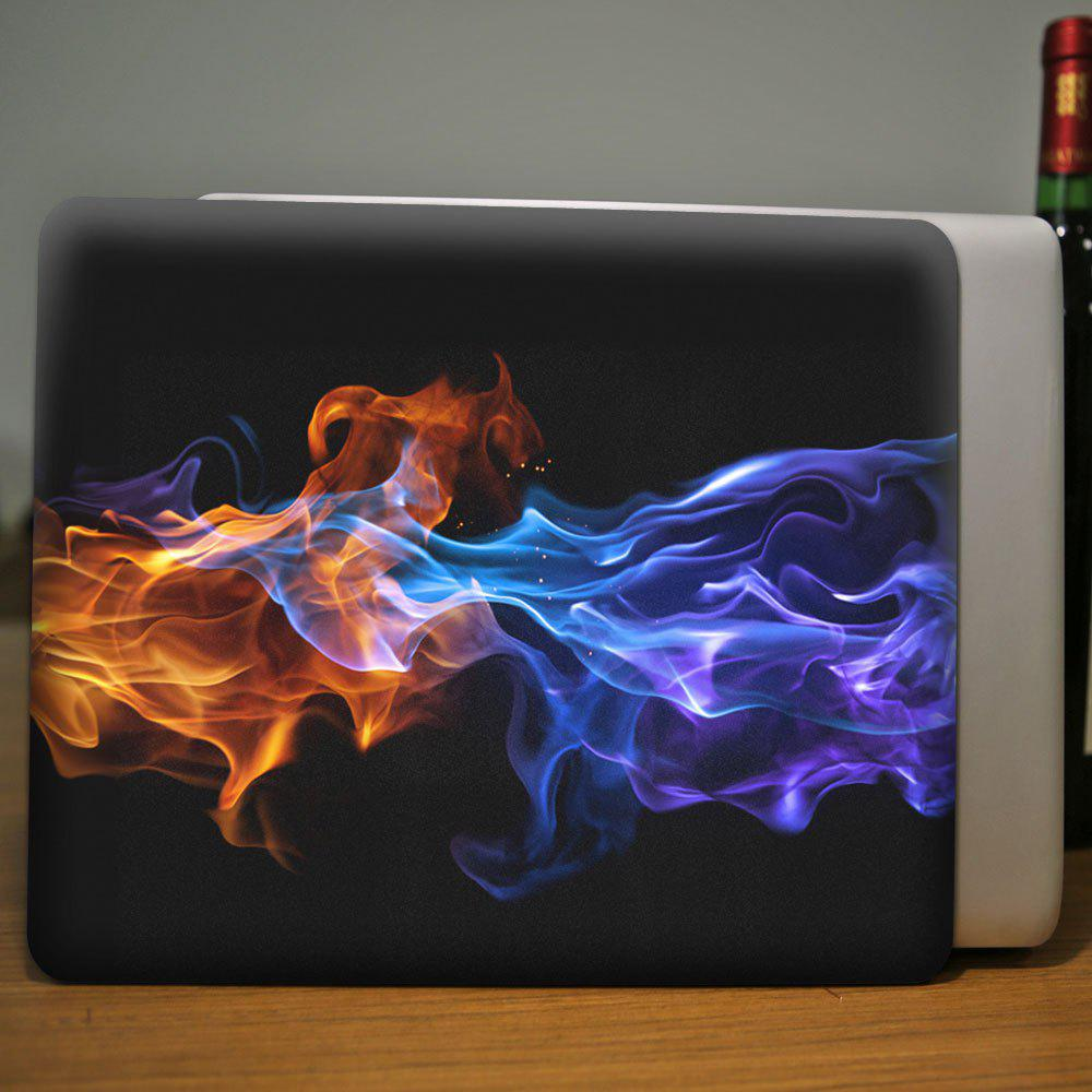 3D Flame Pattern Laptop Case for MacBook