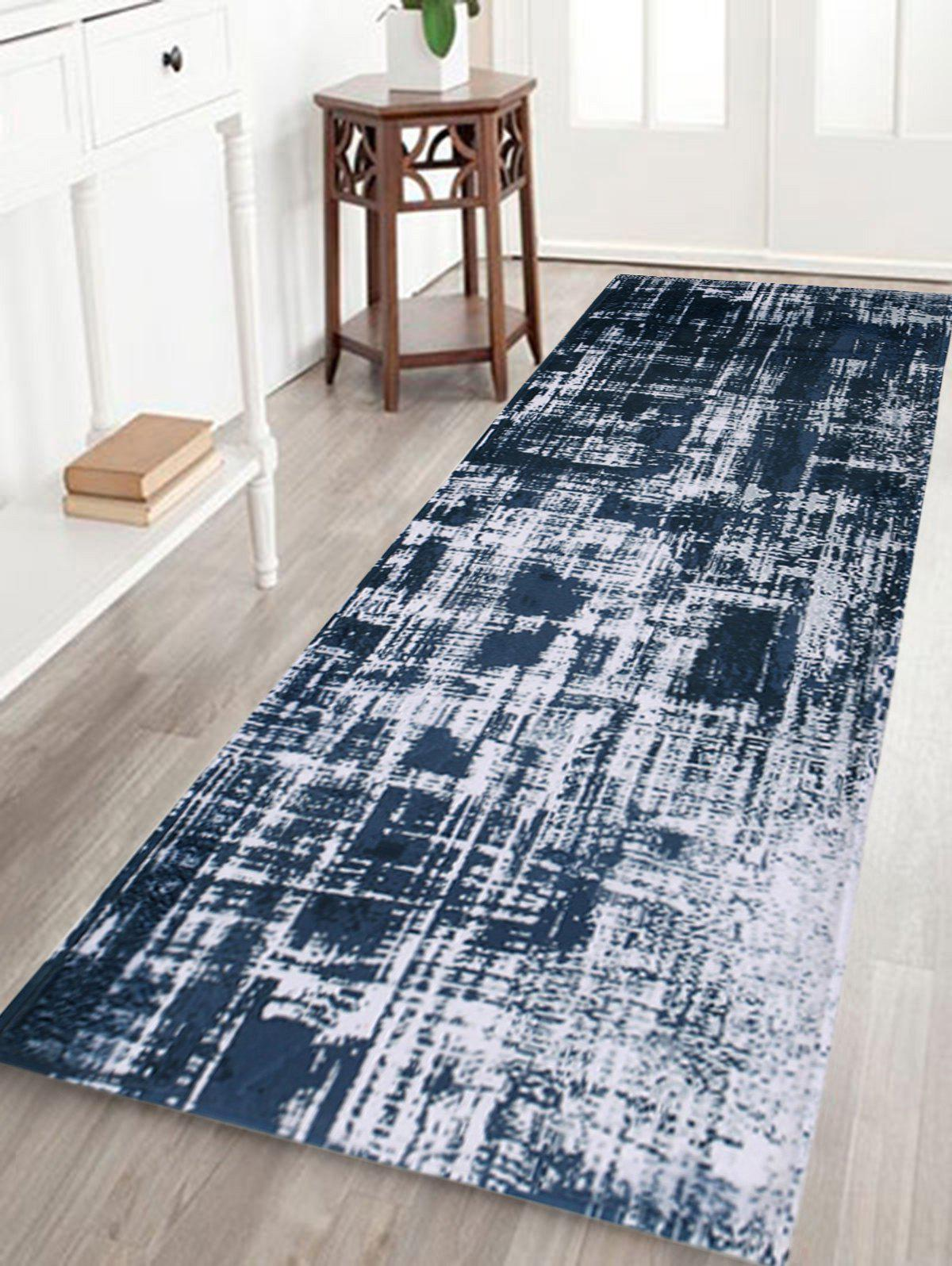 Coral Velvet Distressed Pattern Bathroom Rug - COLORMIX W24 INCH * L71 INCH