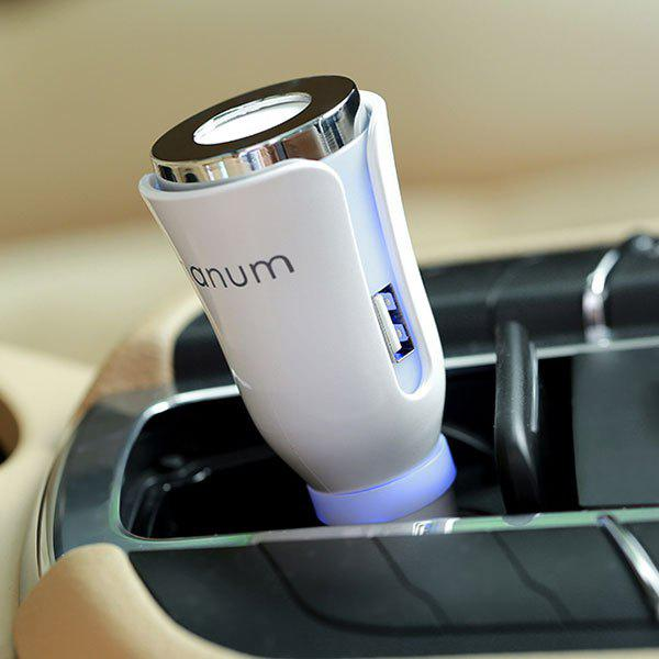 USB Charger Air Purifying Car Aromatherapy Diffuser - WHITE