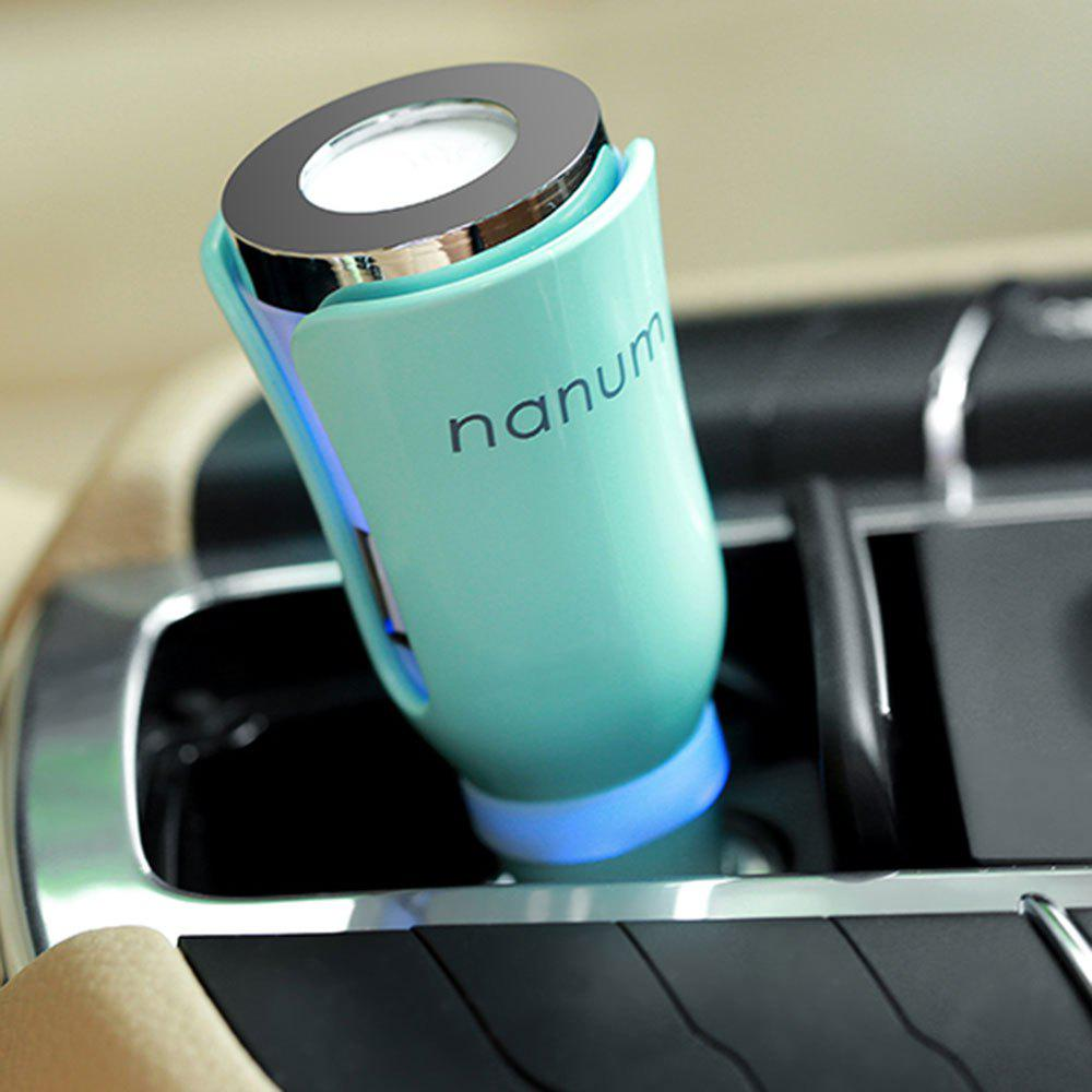 USB Charger Air Purifying Car Aromatherapy Diffuser - LIGHT GREEN