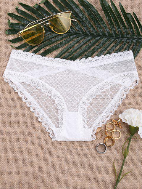 See Through Mesh Panties - WHITE ONE SIZE