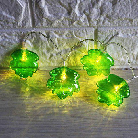 Green Leaf Shape LED Decoration String Lights - Vert