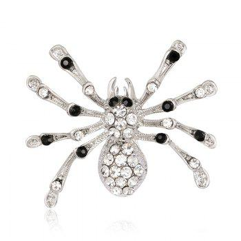 Rhinestones Halloween Spider Shape Brooch