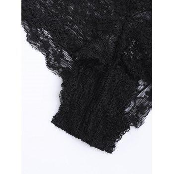 Lace See Through Sexy Panties - BLACK BLACK