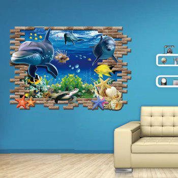 Submarine World Printed Homer Decor Wall Sticker - COLORMIX