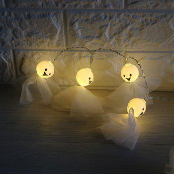 Cartoon Ghost Shape String Lights For Halloween - WHITE