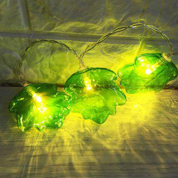 Green Leaf Shape LED Decoration String Lights - GREEN