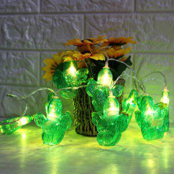 Cactus Shaped LED Decorative String Lights - GREEN GREEN