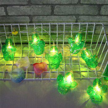 Cactus Shaped LED Decorative String Lights -  GREEN