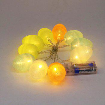 Forme d'oeuf coloré Design décoratif LED String Lights - Coloré