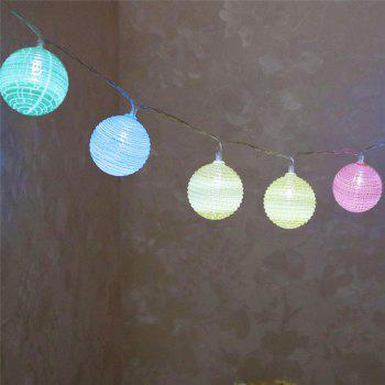 LED Cracked Ball Shape String Lights - COLORFUL COLORFUL