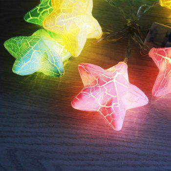 Holiday Decoration Crack Stars Shape LED String Lights -  COLORFUL