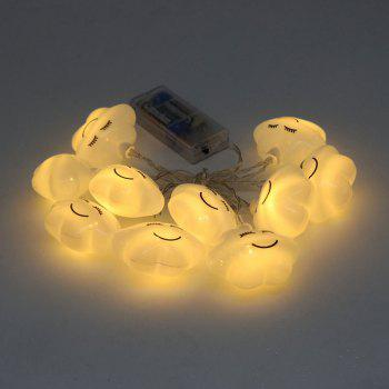 Holiday Decoration Cute Cloud Shape LED String Lights -  WHITE