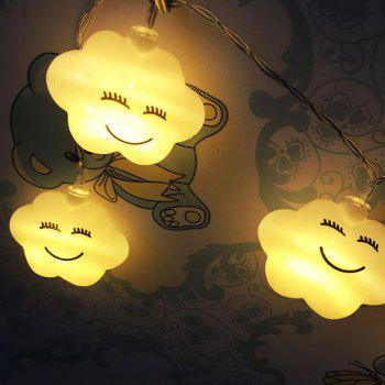 Holiday Decoration Cute Cloud Shape LED String Lights - WHITE WHITE