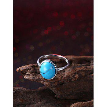 Bohemian Faux Gem Oval Ring - 6 6