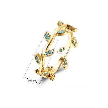 Bohemian Leaves Circle Finger Ring - GOLDEN 7