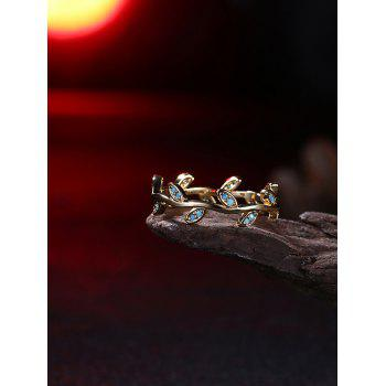 Bohemian Leaves Circle Finger Ring - GOLDEN GOLDEN