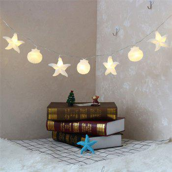 Home Collection Seashells Starfishs Shape LED String Lights - WHITE WHITE