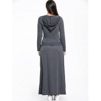 Kangaroo Pocket Hoodie and Maxi Skirt - XL XL