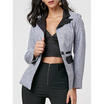 Color Block One Button Blazer
